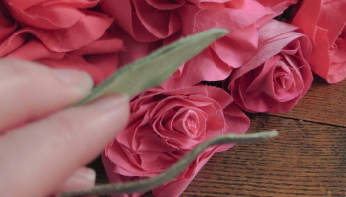 DIY simple and beautiful fabric roses